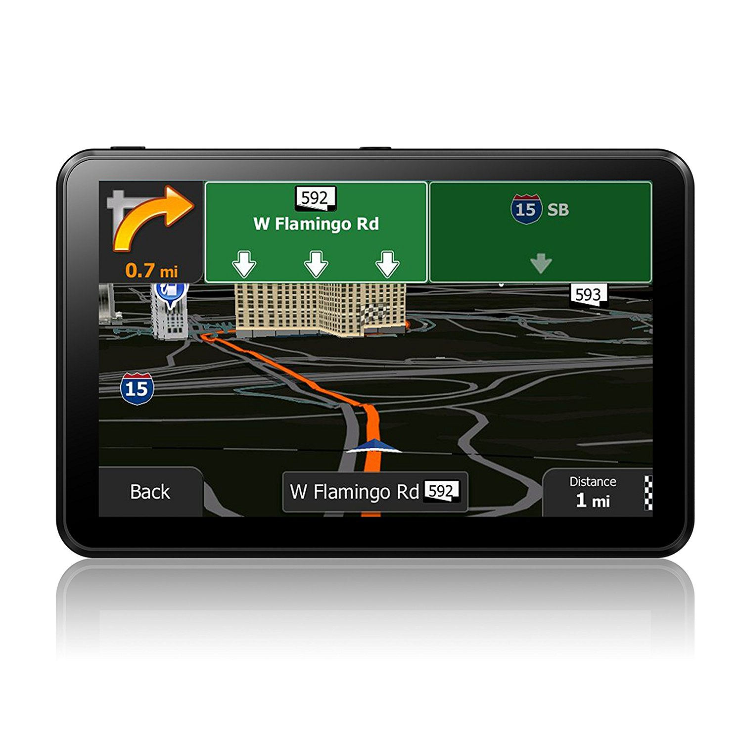 SHENEN GPS Navigation for Car 7 Inches SAT NAV with 8GB Capacitive and Touchscreen System Include Overall America Maps with Lifetime Free Updates