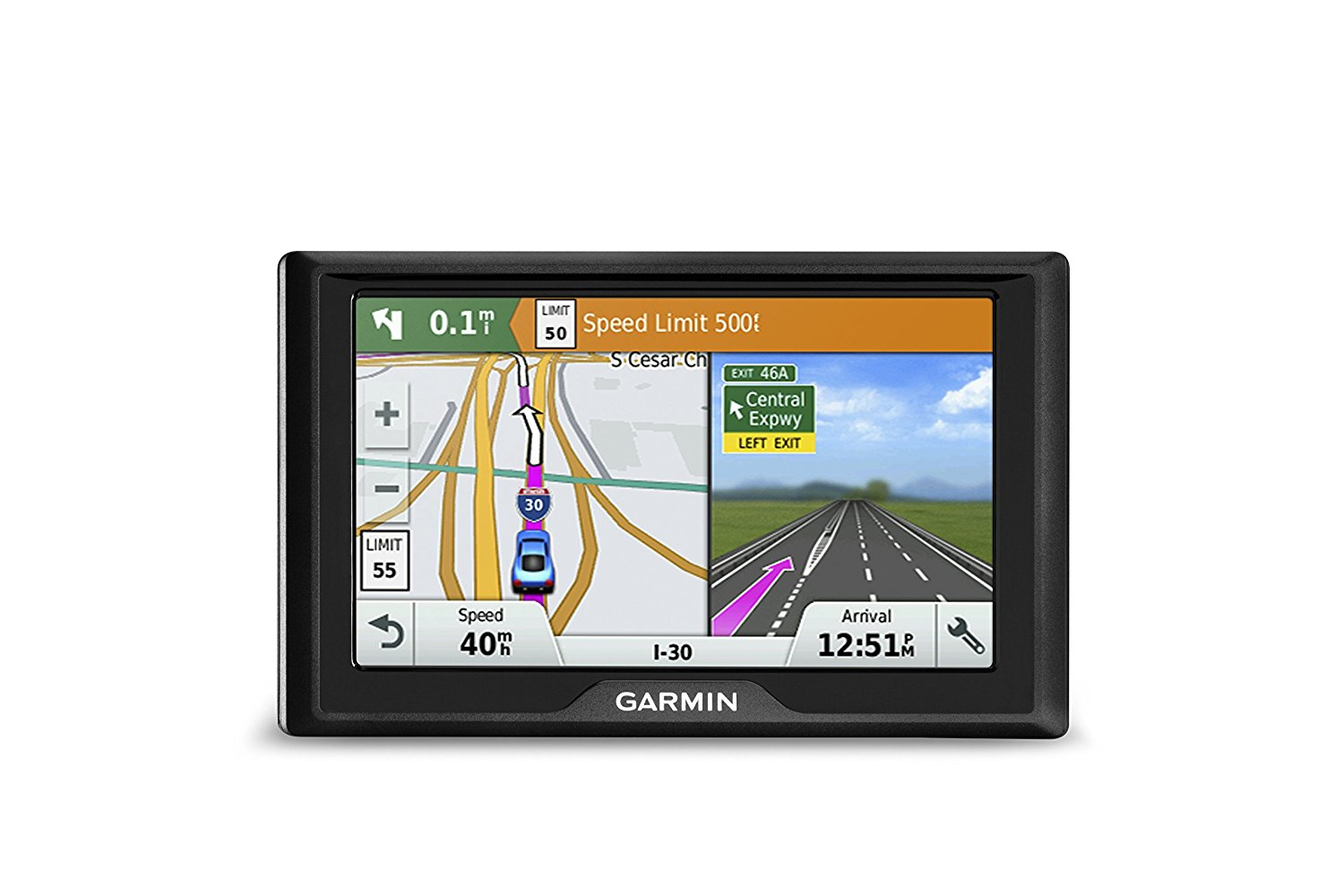 Drive 50 USA LM GPS Navigator System with Lifetime Maps, Spoken Turn-By-Turn Directions, Direct Access, Driver Alerts, and Foursquare Data